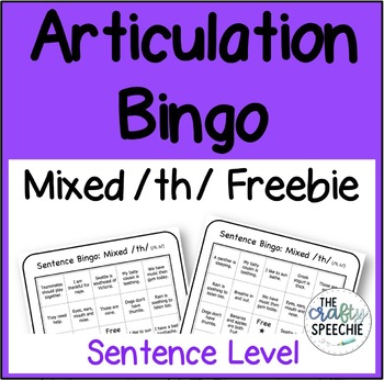 Articulation Bingo Freebie: A No-Prep, Sentence-Level Activity for Mixed /th/