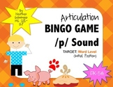 Articulation Bingo Game /p/ sound Initial Position