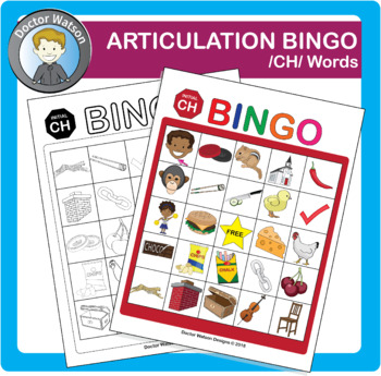 Articulation Bingo Initial CH Color and B&W