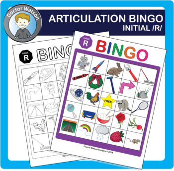 Articulation Bingo Initial /r/ Color and B&W