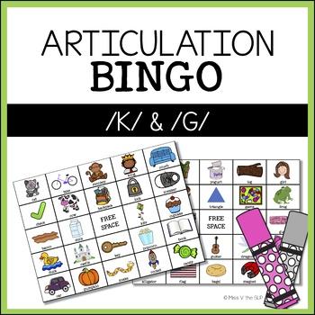 Articulation Bingo /K/ & /G/ Sounds