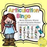Articulation Bingo - Multi-Syllabic Words