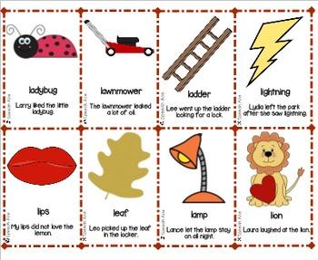 Articulation Bingo: R, S, L
