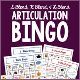 Articulation Bingo {S Blend, R Blend, & L Blend}