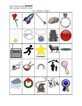 Articulation Bingo - Word Initial Set (r)
