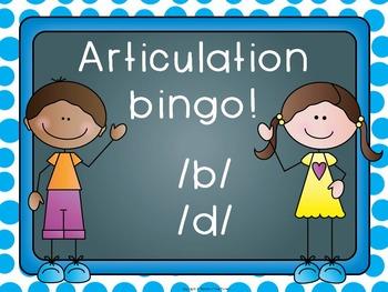 Articulation Bingo /b/ and /d/