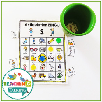 Articulation Bingo for S, Z, L and R (Vocalic and Pre-Vocalic)
