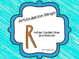 Articulation Bingo for /r/ and /r/ blends