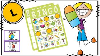 Articulation Bingo: /l/; Articulation Therapy; Vocabulary Bingo
