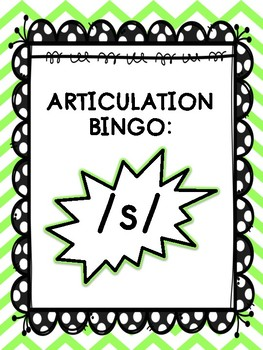 Articulation Bingo: /s/ (ALL POSITIONS)