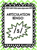 Articulation Bingo: /s/ (ALL POSITIONS)