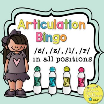 Articulation Bingo with riddles - /s/, /l/, /r/