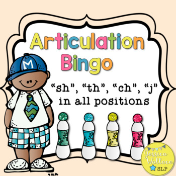 Articulation Bingo with riddles - th, sh, ch, & j