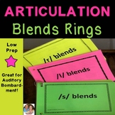 Articulation Blends Rings - R, S and L Blends - Articulation Activities