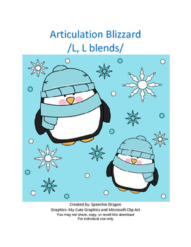Articulation Blizzard /L, L Blends/