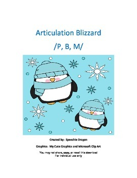 Articulation Blizzard /P,B,M/