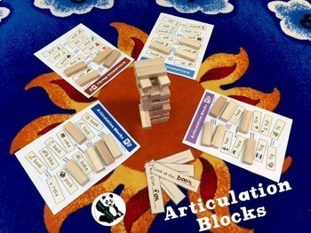 Articulation Blocks: Speech Therapy UN-stacking Game! Low-Prep! (game companion)