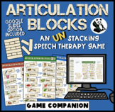Articulation Blocks: Speech Therapy UN-stacking Game! Low-