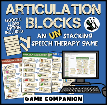 Articulation Blocks: A Speech Therapy UN-stacking Game! Low-Prep!