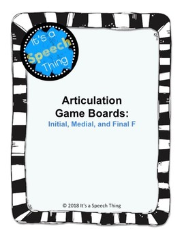 Articulation Boardgames- F