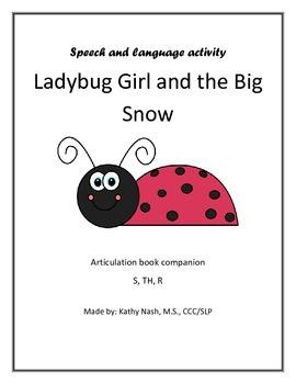Articulation Book Companion - Ladybug Girl and the Big Snow