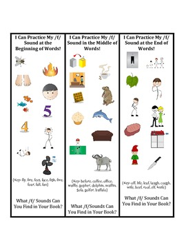 Articulation Bookmarks for Early Developing Sounds