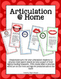 Articulation Bookmarks for @ Home Practice