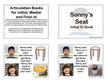 Articulation Books for Initial, Medial and Final /s/