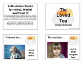 Articulation Books for Initial, Medial and Final /t/