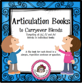 Articulation Carryover Books for /l/, /r/ and /s/ Blends