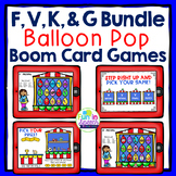 Articulation Boom Card Games for Speech Therapy F, V, K, and G BUNDLE