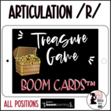 Articulation Boom Cards™ Treasure Game for /r/ DISTANCE LEARNING Speech Therapy