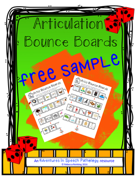 Articulation Bounce Board Freebie (No PREP)