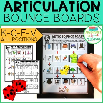 Articulation Bounce Boards for K-G-F-V (No PREP)