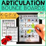 Articulation Bounce Boards for K-G-F-V (No PREP)