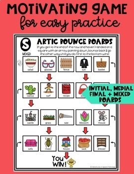 Articulation Bounce Boards for S-Z-SH-TH (No PREP)