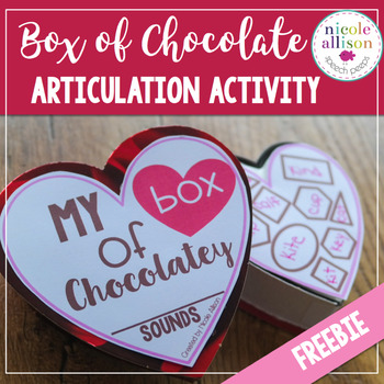 Articulation Box of Chocolate {Valentine Freebie}