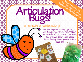 Articulation Bugs! An Interactive Articulation Activity!