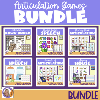 Articulation Games Bundle! For speech and language therapy