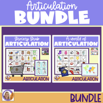Articulation Games for speech and language therapy bundle