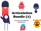 Articulation Bundle - Consonants in word-initial - 1000+ real photos!