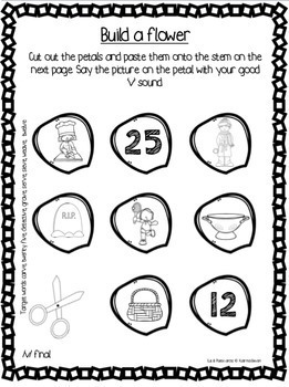 Articulation Bundle! Cut & Paste packets #2 for speech and language therapy
