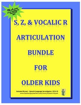 Articulation Bundle for Older Kids