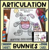 Articulation Bunnies! Speech Therapy Craft Activity