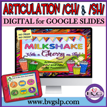 Articulation CH and SH in All Positions Milkshake w/ Cherry on Top - Teletherapy