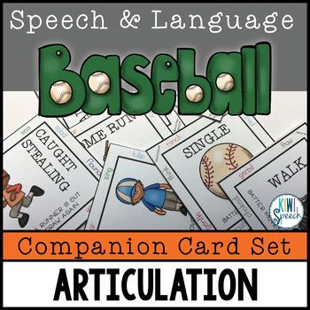 Articulation COMPANION SET for Speech and Language Baseball