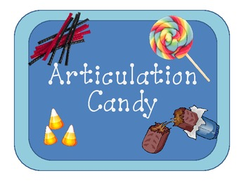 Articulation Candy Cards:  Speech Therapy Activity