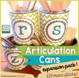 Articulation Cans {a speech therapy DIY you'll use forever!} EXPANSION PACK!