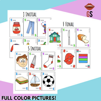 Articulation Card Game/Flashcards Bundle