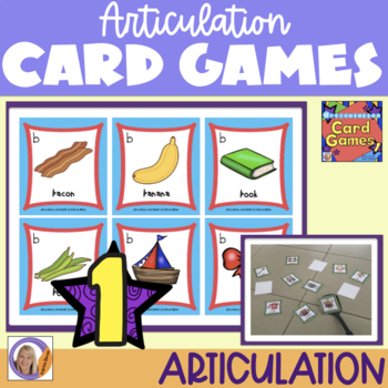 Articulation Card Games Set 1 for speech and language therapy